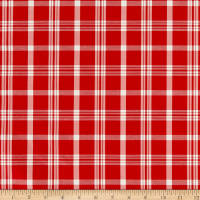 Duralee 6011 Sutton Plaid Silk Blend 49 Radish