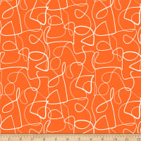 Ampersand Abstract Collage Abstract Lines White/Orange