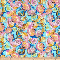 Paintbrush Studio Fabulous Flamingos  Turquoise Sea Shells