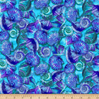 Paintbrush Studio Fabulous Flamingos  Purple Sea Shells