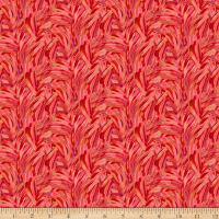 Paintbrush Studio Fabulous Flamingos  Feather Strokes Pale Red/Pink