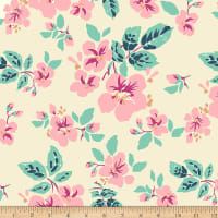 Paintbrush Studio Tiara Large Splashy Pink Flowers Linen