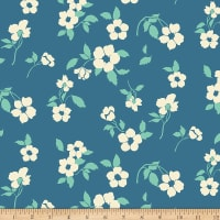 Paintbrush Studios Tiara Medium Splashy Ecru Flowers Blue