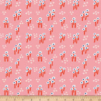 Paintbrush Studios Garden Glory Abstract Mushrooms White/Pink