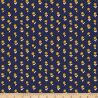Paintbrush Studios Garden Glory Abstract Dancing Daisies Gold/Navy