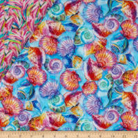 Paintbrush Studio Fabulous Flamingos Pre-Quilted Multi
