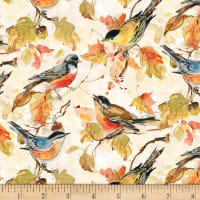 Wilmington Forest Dance Birds Allover Cream