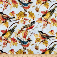 Wilmington Forest Dance Birds Allover Light Blue