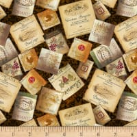 Wilmington Tuscan Delight Labels Allover Brown