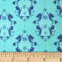 The Little Mermaid Damask Teal