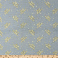 Disney's Mary Poppins Logo Polka Dots Blue Metallic