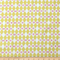 Camelot Dumbo in the Circus Vintage Argyle Yellow