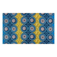 Supreme African Wax Print 6 Yards Blue