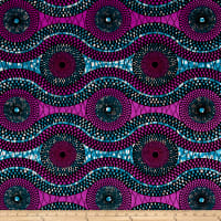 Supreme African Wax Print 6 Yards Purple