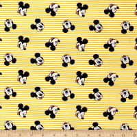Disney Mickey Mouse Oh Boy! Stripes Yellow