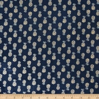 Camelot By The Sea Abstract Pineapple Navy