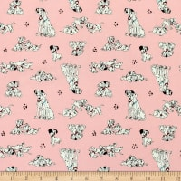 101 Dalmations Pongo Perdy & Puppies Pink