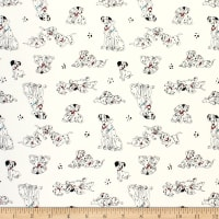 101 Dalmations Pongo Perdy & Puppies White