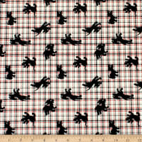 101 Dalmations Puppy Plaid  Red