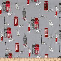 101 Dalmations London Town Toile Stone