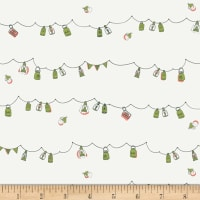 Art Gallery Dew & Moss Playful Mini Bunting White