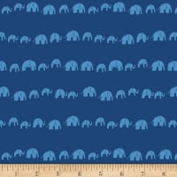 Art Gallery Selva Elephants' Echo Electric Blue