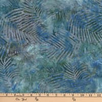 Central Java Indonesian Batik Leaf Blue/Dark Green