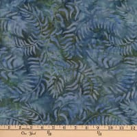 Central Java Indonesian Batik Sweeping Vine Dark Blue/Green