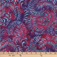 Central Java Indonesian Batik Sweeping Vine Fuchsia/Purple/Turquoise