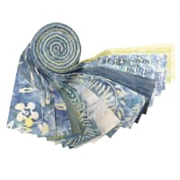 "Indonesian Batik 2.5"" Strips Pack 20 Pcs Gray/Blue"