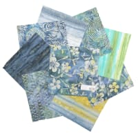 "Indonesian Batik 10"" Square Pack 24 Pcs Gray/Blue"