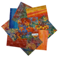 "Indonesian Batik 10"" Square Pack 24 Pcs Wine/Navy"