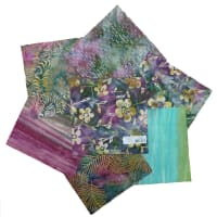"Indonesian Batik 10"" Square Pack 24 Pcs Green/Purple"