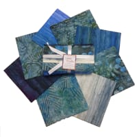 Indonesian Batik Fat Quarters 8 Pcs Blue/Green