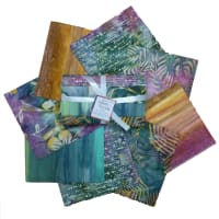 Indonesian Batik Fat Quarters 8 Pcs Green/Purple