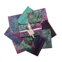 Indonesian Batik Fat Quarters 8 Pcs Purple/Green/Blue