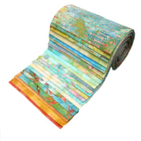 "Indonesian Batik 6"" Strips Pack 24 Pcs Turquoise"