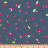 Art Gallery Floralish Cherry Picking Stretch Knit Pink/Green/Blue