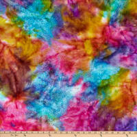 Textile Creations Sunset Key Flannel Tie Dye Pink/Turquoise/Purple