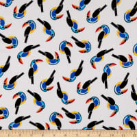 Fabtrends Rayon Soleil Graphic Toucan Off White