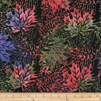 Batik by Mirah Firenze Leaves Imperial Red