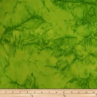 Batik by Mirah Green Glow Mottled Textures Bazil Green