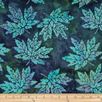 Batik by Mirah Green Glow Leaves Jetty Blue