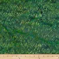 Batik by Mirah Green Glow Crosshatches Juniper Green