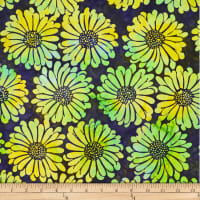 Batik by Mirah Green Glow Florals Citronelle Yellow