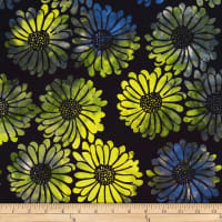 Batik by Mirah Green Glow Flowers Magical Multi