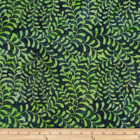 Batik by Mirah Green Glow Leafy Vines Pino Green