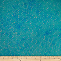 Batik by Mirah Navy Notes Geometric Prints Aqua Diva Green