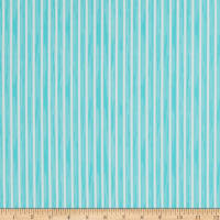 Martha Stewart Lily Pond Ticking Stripe Eco Canvas Turquoise