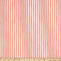 Martha Stewart Lily Pond Ticking Stripe Eco Canvas  Coral